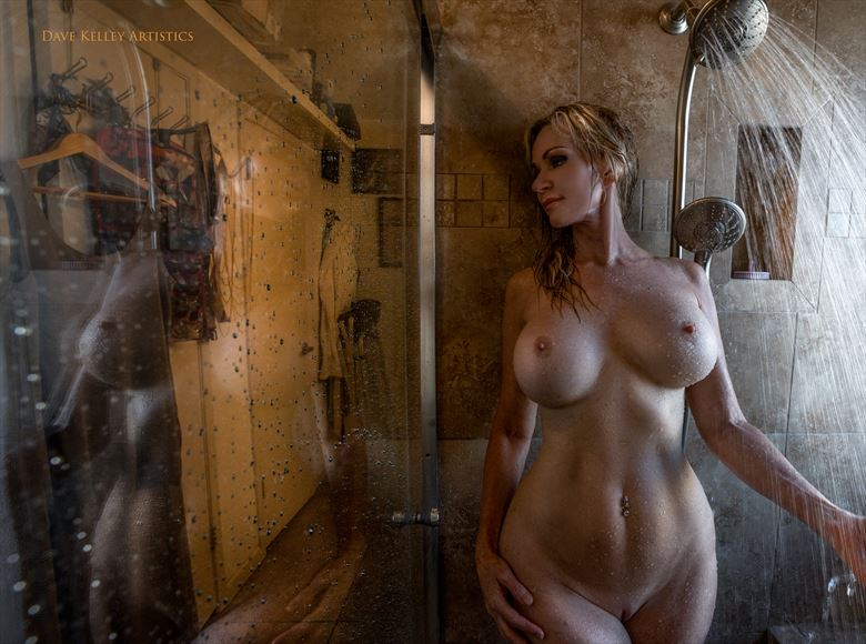 the shower artistic nude photo by photographer dave kelley artistics