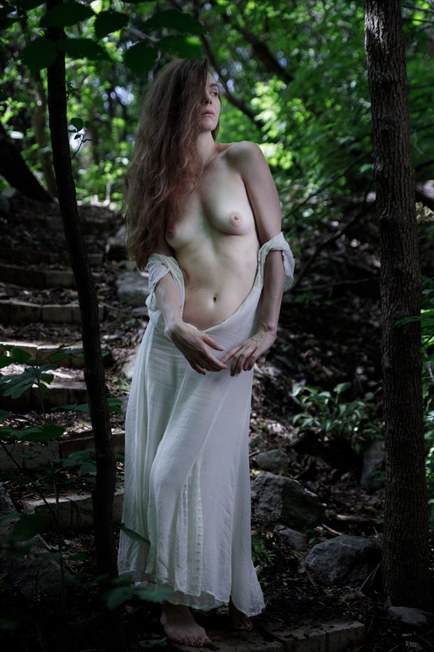 the soul of the forest on the stairs 1 artistic nude photo by photographer claude frenette