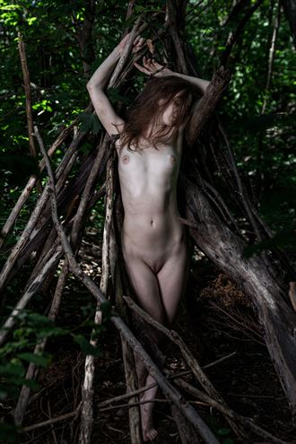 the soul of the forest the tipi 1 artistic nude photo by photographer claude frenette