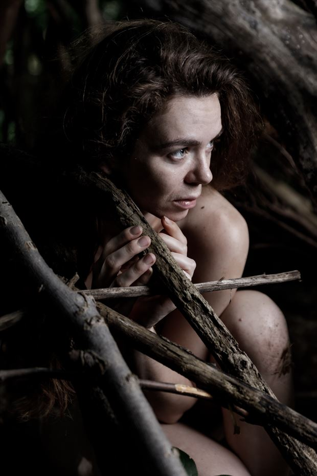 the soul of the forest the tipi 3 artistic nude photo by photographer claude frenette