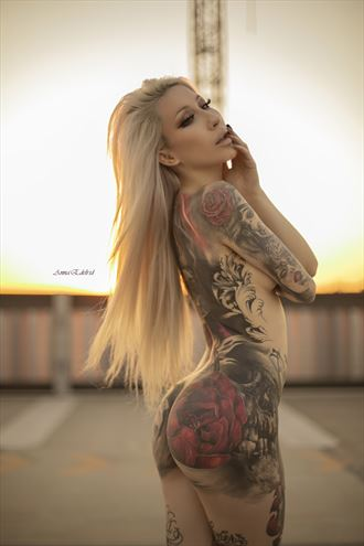 the sunset beauty tattoos photo by photographer anna edelride