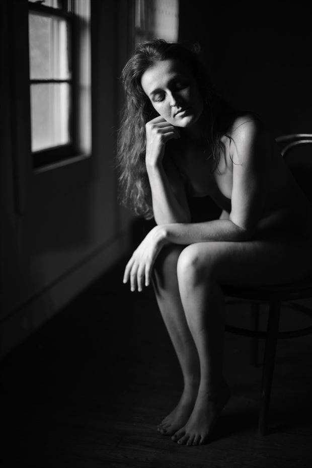 the thinker artistic nude photo by model jordane