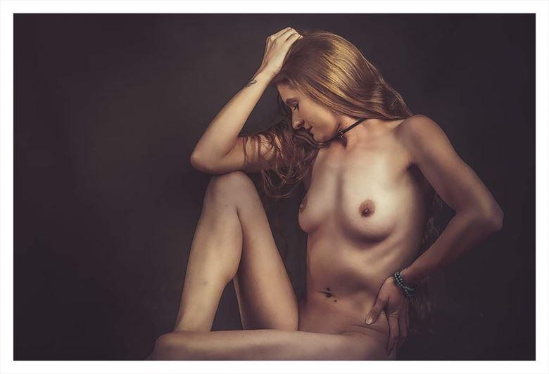 the thinker artistic nude photo by model suneadura