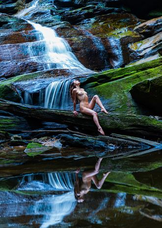 the waterfall artistic nude photo by photographer stephen wong