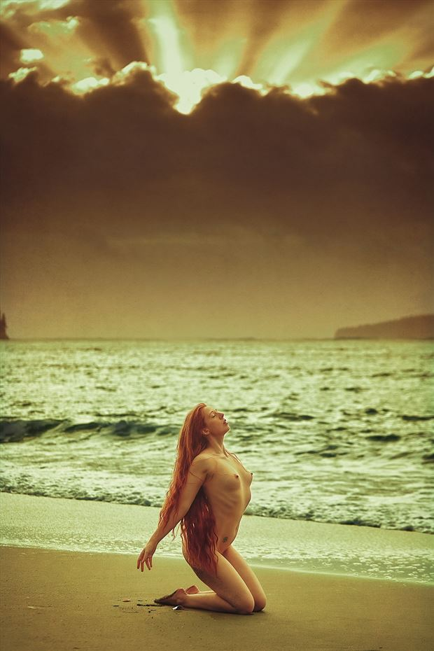 the weight of heaven w angharada artistic nude photo by photographer robin burch