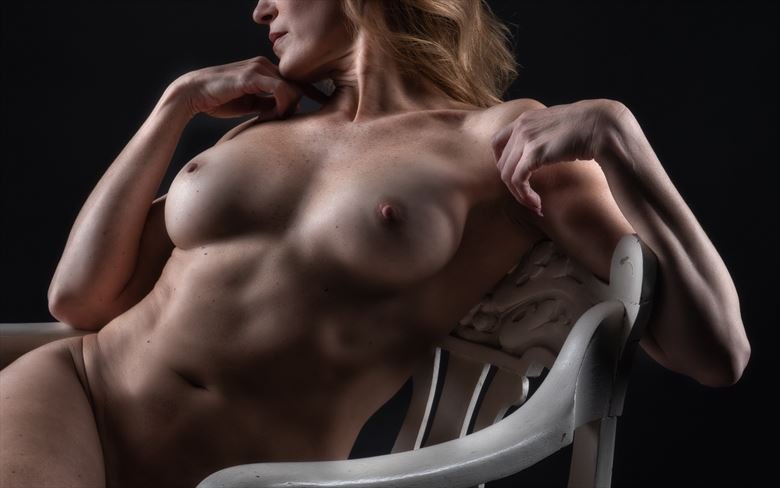 the white chair strikes again artistic nude photo by photographer rick jolson