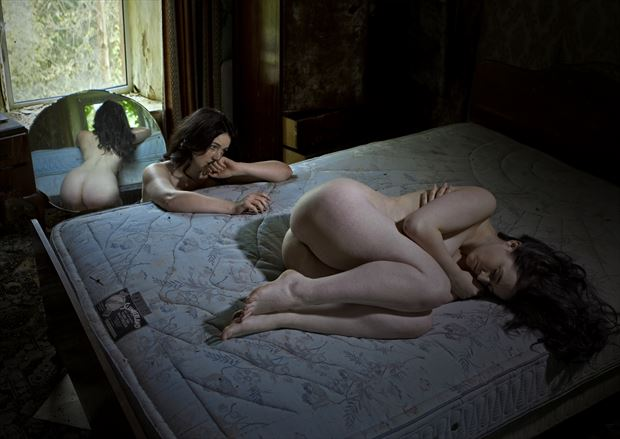 the worrier who waits artistic nude photo by photographer douglas ross