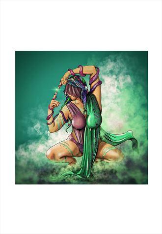 theia surreal artwork by artist riccardo scavo