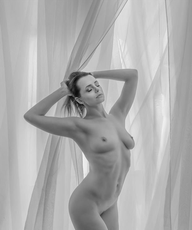 think of me being veiled artistic nude photo by photographer mikeal brecks