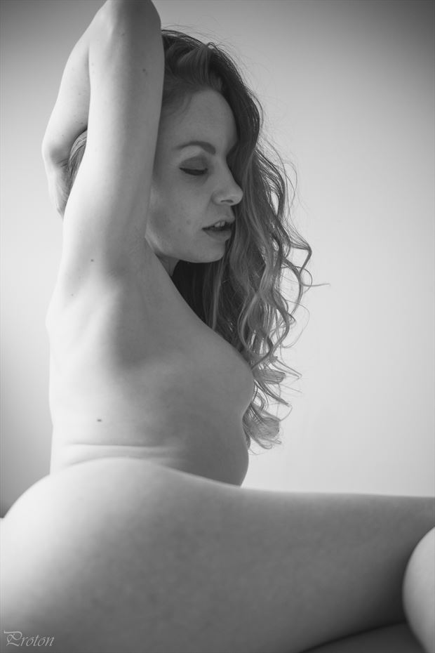 thinking artistic nude photo by photographer proton