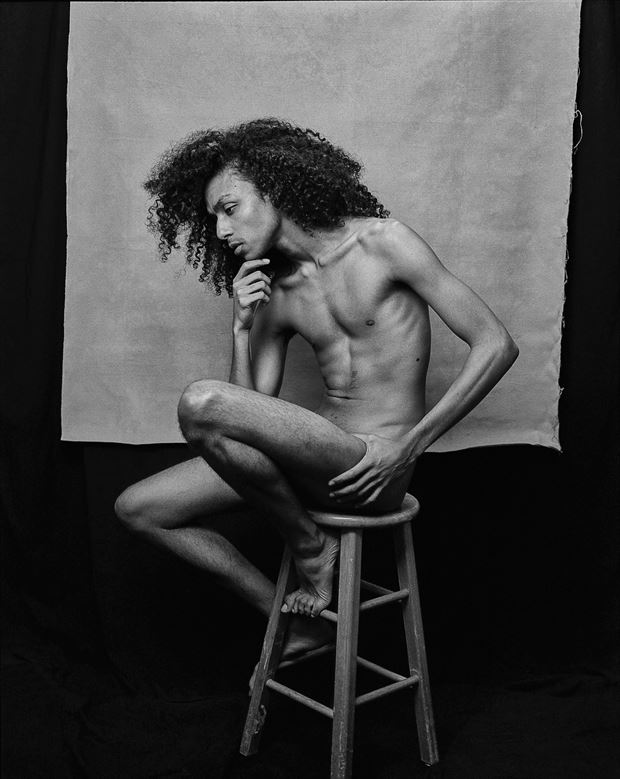 thinking man implied nude photo by artist marc anthony