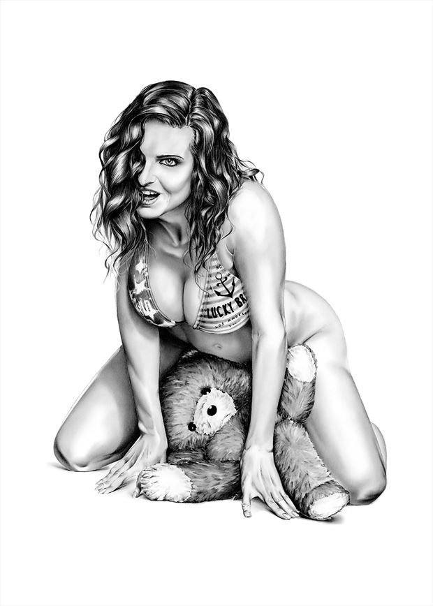 this teddy is mine lingerie artwork by artist dirk richter