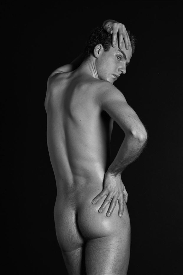 thomas back straight standing 2000 artistic nude photo by model thomas lundy