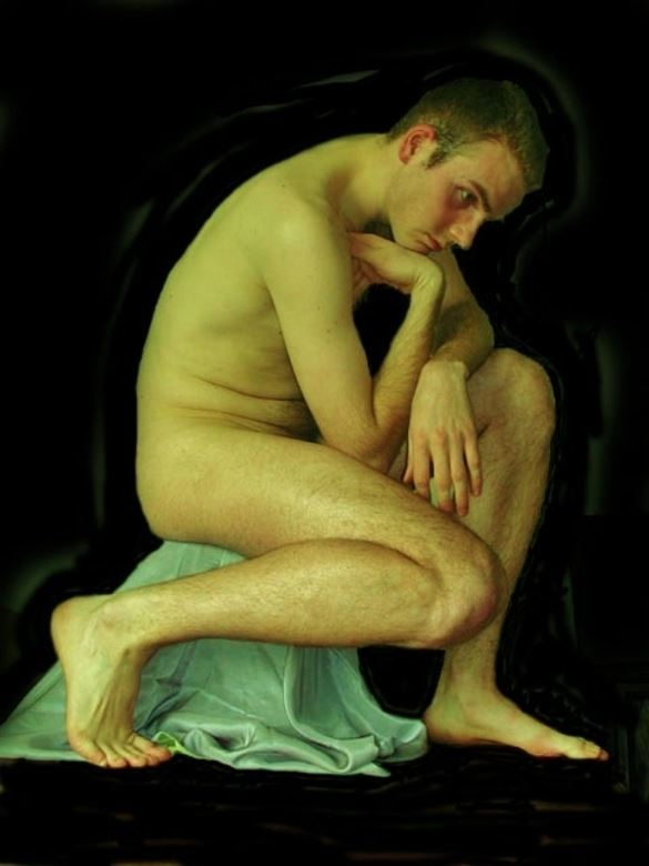 thomas the thinker 2002 vancouver implied nude photo by model thomas lundy