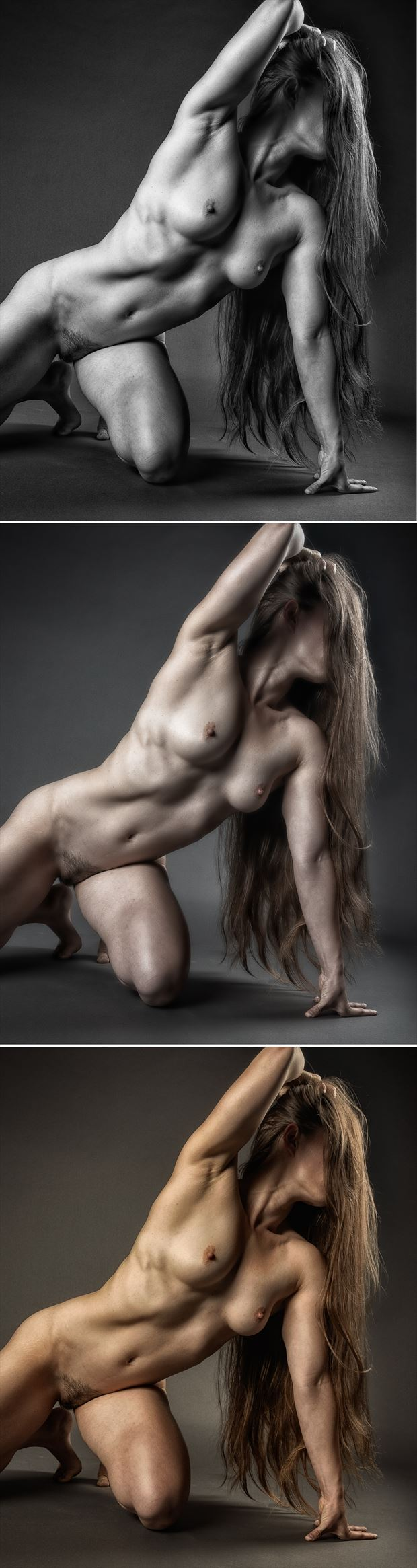 three shades of red 2 artistic nude photo by photographer rick jolson