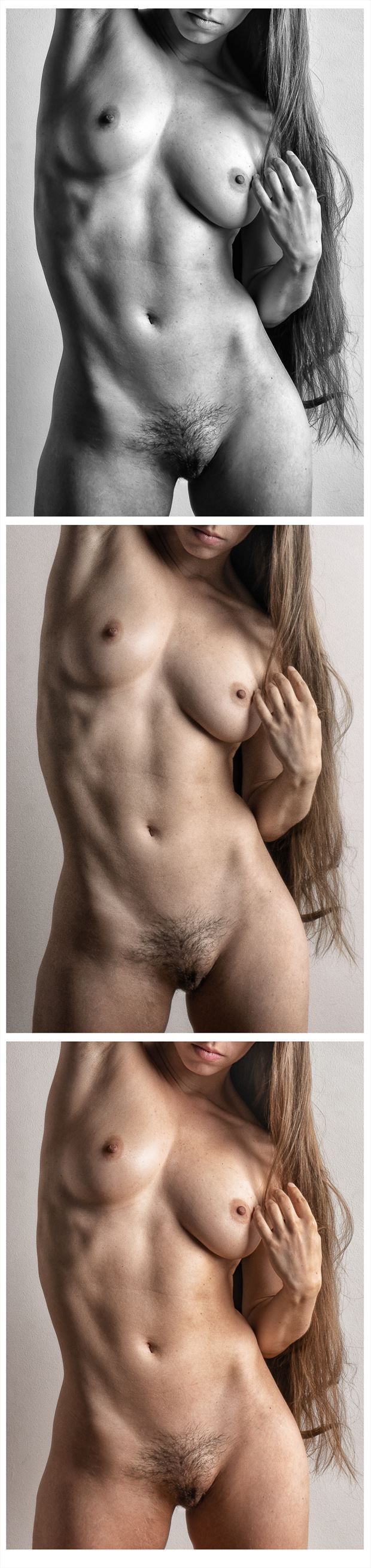 three shades of red artistic nude photo by photographer rick jolson