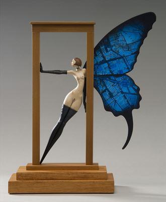 threshold artistic nude artwork by artist john morris sculptor