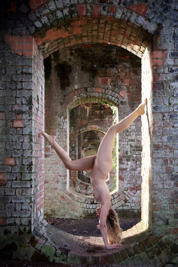 through the arches artistic nude photo by model selkie