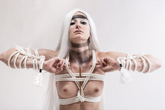 tied up artistic nude photo by model fearra lacome