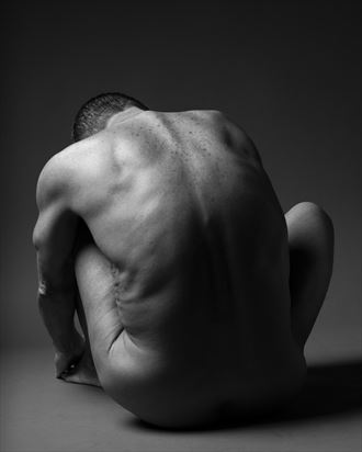 tim seated artistic nude photo by photographer david clifton strawn