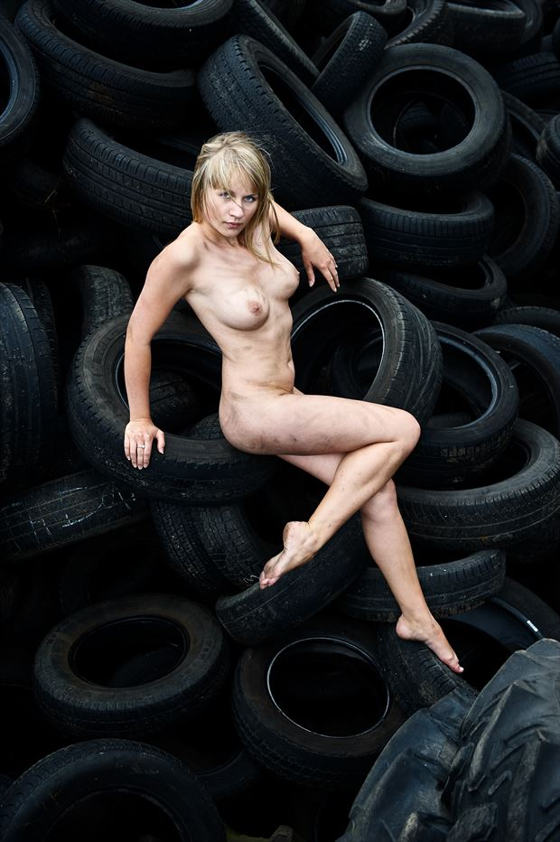 tires tyres dirty artistic nude photo by photographer mick gron