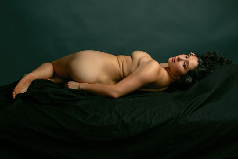 tori lounging artistic nude photo by photographer mikeblue