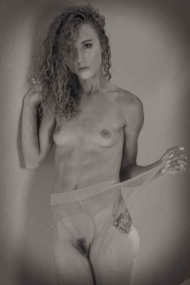 torn panty hose artistic nude photo by photographer dpaphoto