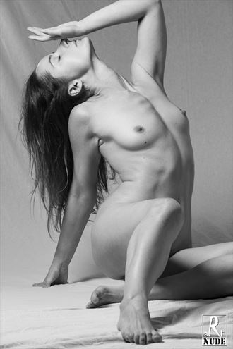 touch the nose artistic nude photo by model lileya
