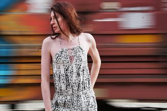 train portrait i experimental photo by model transartmodel