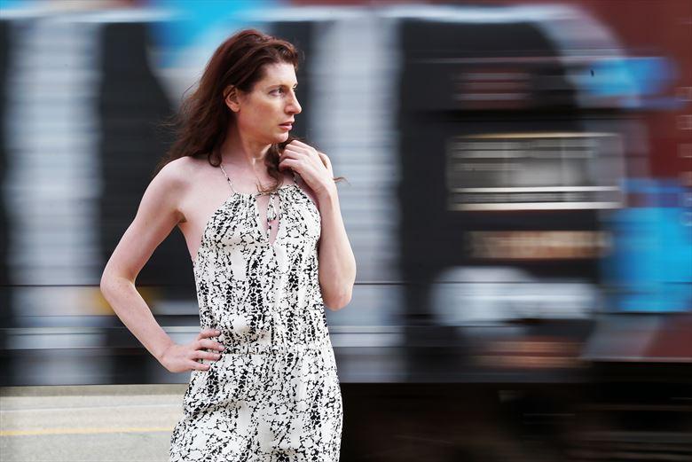 train portrait v experimental photo by model transartmodel