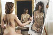 triple self portrait sensual photo by photographer blimey