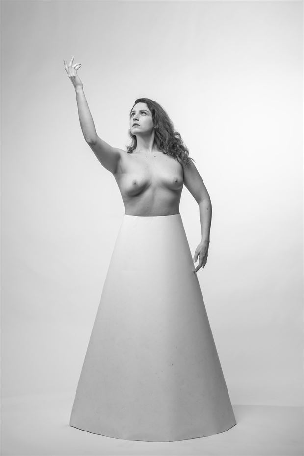 triumph of cone artistic nude photo by model misted forest