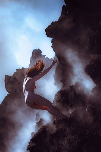 trust fall artistic nude artwork by photographer soulcraft