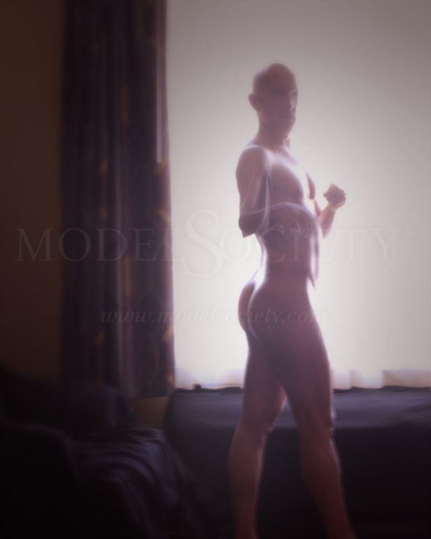 turn around artistic nude photo by model avid light