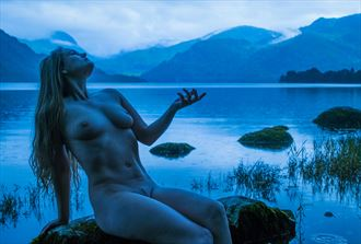 turning the lake blue artistic nude photo by photographer mick egan