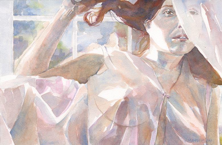 twice veiled artistic nude artwork by artist artbyjeff
