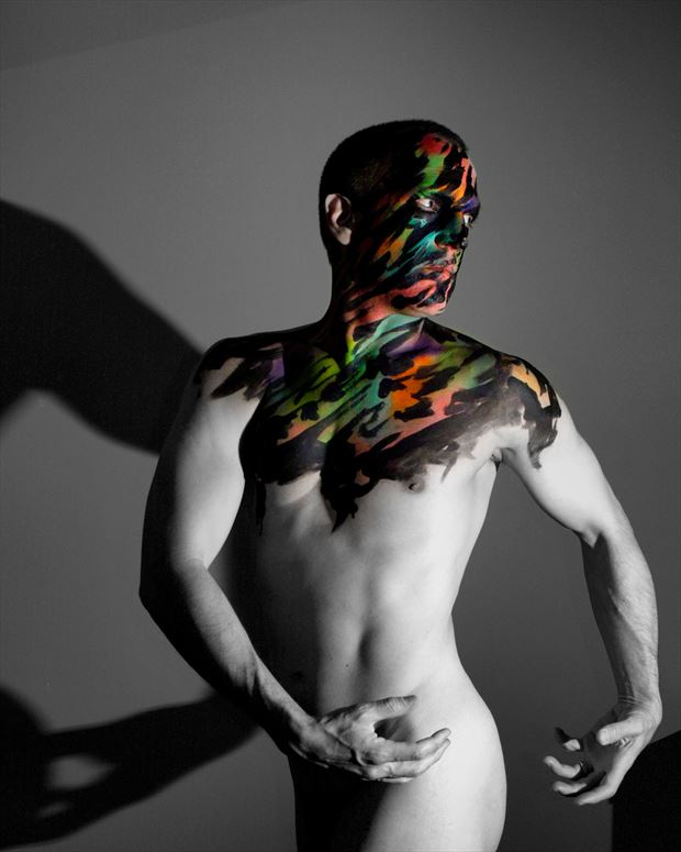 twisted artistic nude photo by model avid light