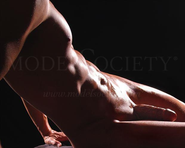 twisted light artistic nude photo by model avid light