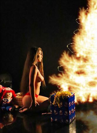 tyrha christmas light artistic nude photo by photographer dan stone photo