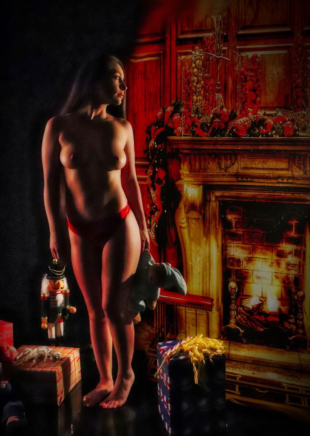 tyrha christmas light artistic nude photo by photographer dan stone photo