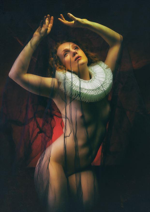 under a veil artistic nude artwork by photographer neilh
