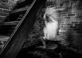 under steps alternative model artwork by model naked freedom
