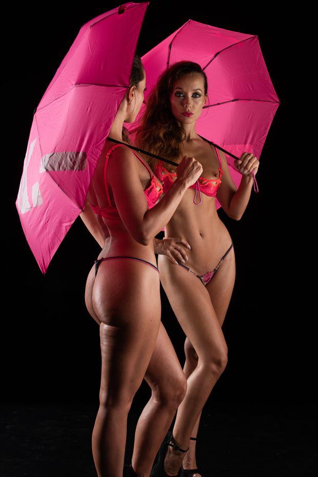 under umbrella artistic nude photo by photographer arcis