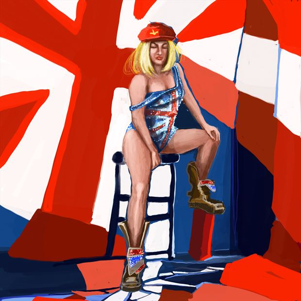 union jack 2 lingerie artwork by artist nick kozis