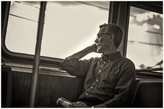 unknown man on the el Candid Photo by Photographer Fauxtoe Flux