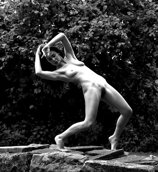 unsupported back bend artistic nude photo by photographer russb