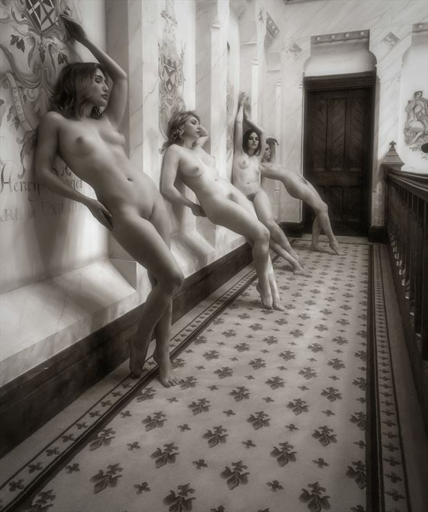 up against the wall artistic nude photo by photographer neilh
