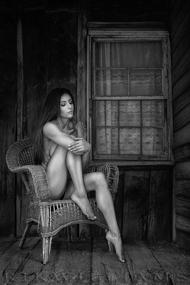 up at the old cabin with jacinta artistic nude photo by photographer rik williams