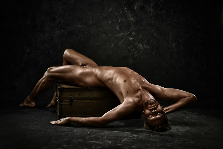 upside down artistic nude photo by photographer r pedersen