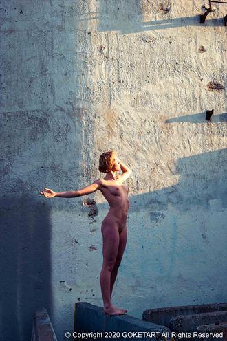 urban artistic nude artwork by model kaye
